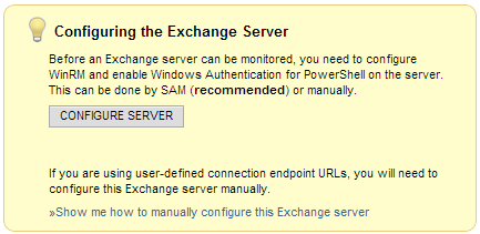 SAM Configure Exchange Server
